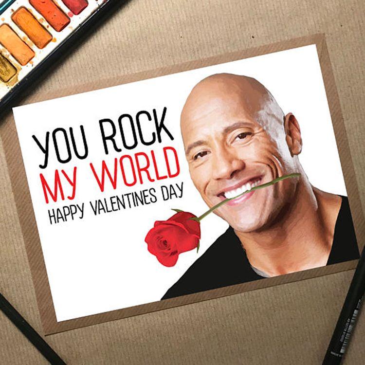 "The Stuck Shop Dwayne ""The Rock"" Johnson Valentine's Day Card"