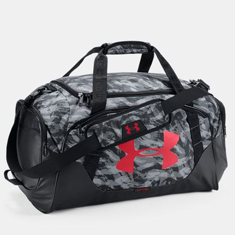 """<p><strong data-redactor-tag=""""strong"""" data-verified=""""redactor""""><em data-redactor-tag=""""em"""" data-verified=""""redactor"""">$45</em></strong> <a href="""" https://www.underarmour.com/en-us/mens-ua-undeniable-3-0-medium-duffle-bag/pid1300213-001 """" target=""""_blank"""" class=""""slide-buy--button"""" data-tracking-id=""""recirc-text-link"""">BUY NOW</a> </p><p><strong data-redactor-tag=""""strong"""" data-verified=""""redactor"""">Best Overall</strong> </p><p>This option gets the top honor for being a total hit with gymgoers. It's undeniably the best! Made from seriously strong UA Storm technology fabric, this water-resistant gym bag has a padded shoulder strap (with HeatGear technology) and a vented pocket to hold your dirty gym sneakers (plus room for shower sandals!). Some reviewers even say they could fit two or three gym outfits in this bad boy! While it comes in 11 different colorways, our favorite is the steel print for a masculine-yet-stylish print.&nbsp; </p><p><strong data-redactor-tag=""""strong"""" data-verified=""""redactor"""">Complete the Look</strong>: Like their killer gym bags, Under Armour has the perfect athletic gear&nbsp;for style and function. Check out their subscription service <a href=""""https://www.underarmour.com/en-us/armourbox"""" target=""""_blank"""" data-tracking-id=""""recirc-text-link"""">ArmourBox</a> for a head-to-toe outfit to meet all your needs. The personal profile will ask your fitness goals, what kind of workouts you'll be doing, and what's your style. Combining your information with purchasing data and reviews from UA.com and Under Armour's Connected Fitness customers, they'll pick the perfect pieces you'll seriously love. </p><p><strong data-redactor-tag=""""strong"""" data-verified=""""redactor"""">More</strong>:&nbsp;<a href=""""http://www.bestproducts.com/fashion/g1207/mens-womens-sweatpants/"""" target=""""_blank"""" data-tracking-id=""""recirc-text-link"""">10 Most Comfortable Sweatpants for Men and Women</a><span class=""""redactor-invisible-space"""" data-verified=""""redactor"""" data-redactor-tag=""""span"""" data-redactor-class="""""""
