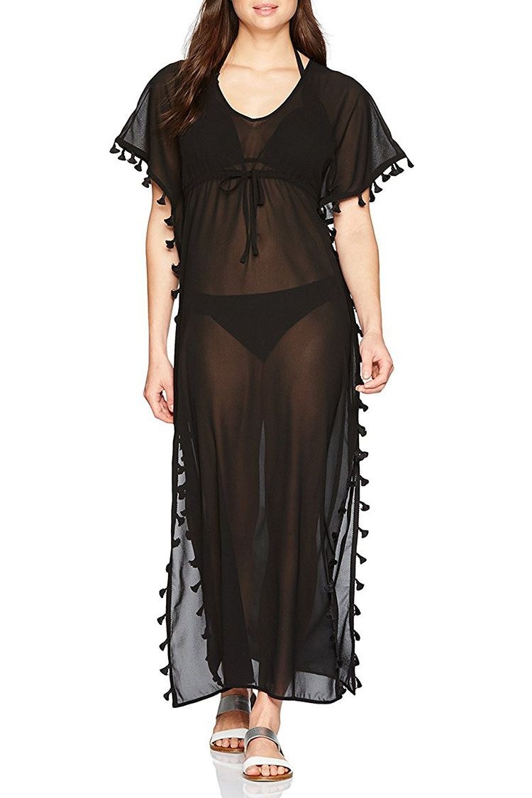 black caftan swim coverup