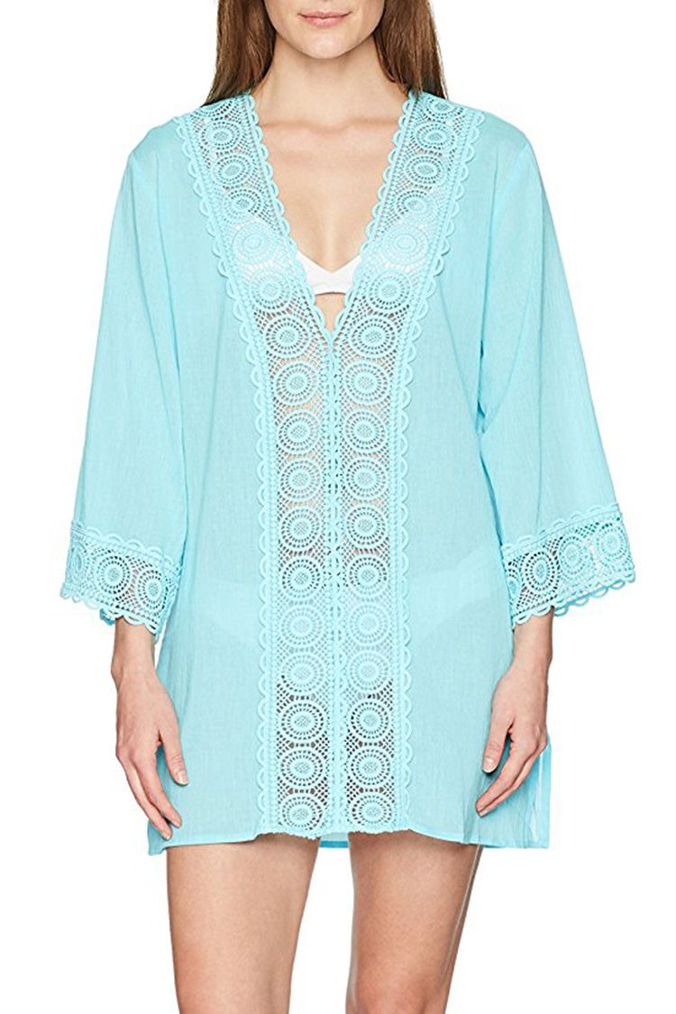 la blanca blue swim cover up