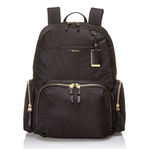 Tumi Calais Black Nylon Backpack