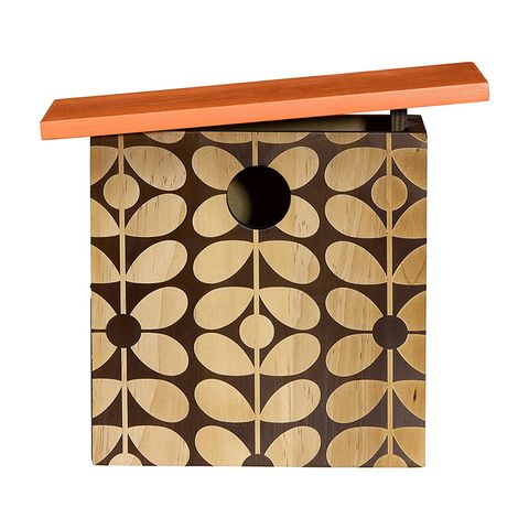 Orla Kiely Sixties Stem Wooden Bird House