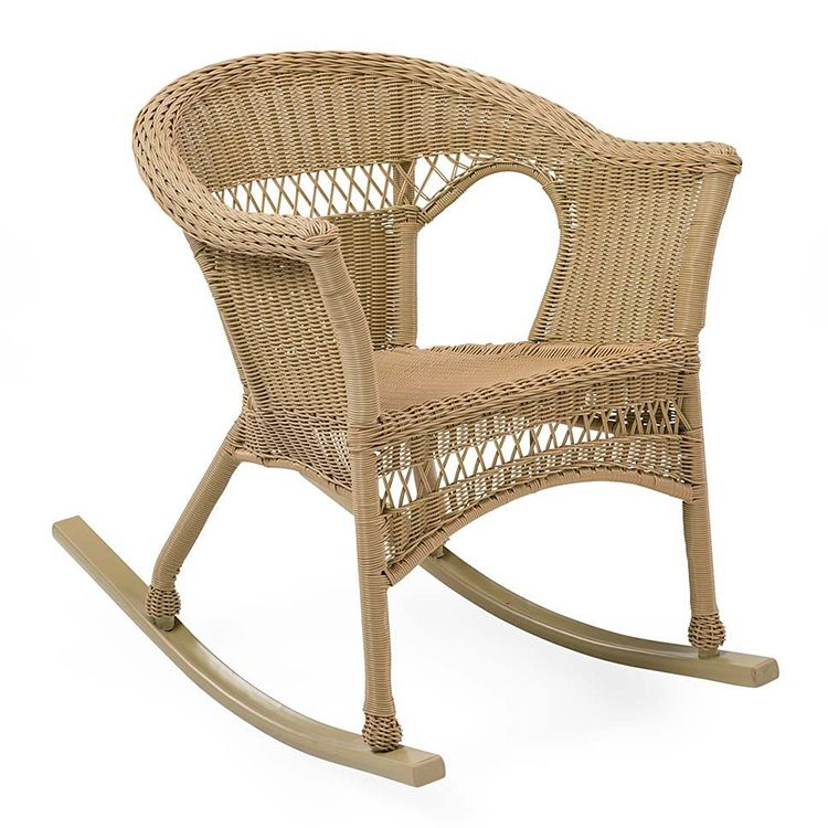 Plow & Hearth Easy Care Resin Wicker Rocker
