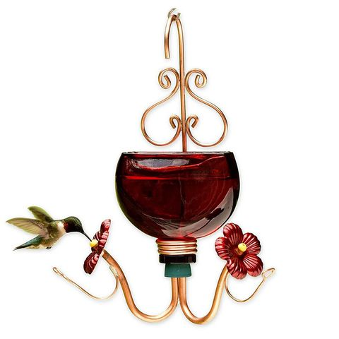 Plow & Hearth Harmony Red Hummingbird Feeder