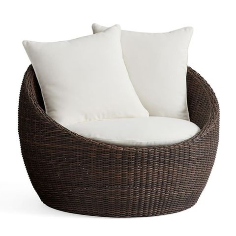 Pottery Barn Torrey All-Weather Wicker Papasan Chair