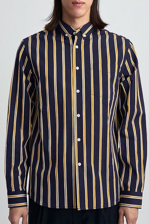 a43e99cba image. Saturdays NYC Crosby Satin Stripe Midnight Button-Down Shirt. $185 BUY  NOW