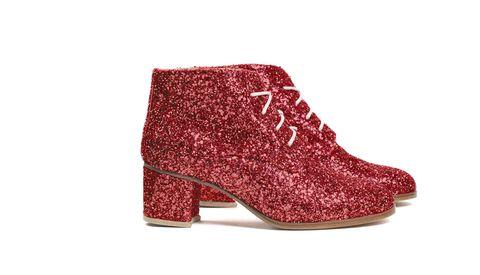 Polacchini rossi alla Doroty del Mago di Oz, <b>L'F Shoes</b>