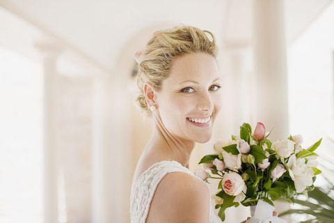 Clothing, Petal, Photograph, Bouquet, Bridal clothing, Beauty, Bridal accessory, Bride, Eyelash, Wedding dress,