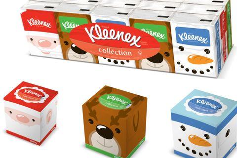 carina bel design rivenditore all'ingrosso La collezione di natale dei fazzoletti Kleenex