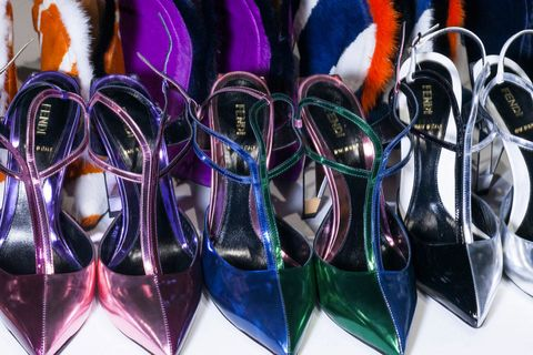 Purple, Carmine, Collection, Slingback, Sandal,