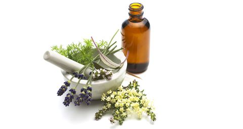 Liquid, Bottle, Glass bottle, Fluid, Ingredient, Lavender, Oil, Chemical compound, Bottle cap, Still life photography,