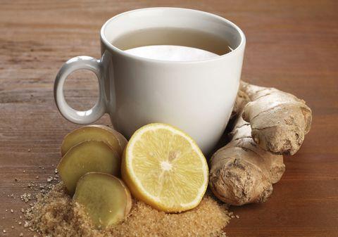 Cup, Serveware, Drinkware, Dishware, Lemon, Ingredient, Food, Coffee cup, Citrus, Tableware,