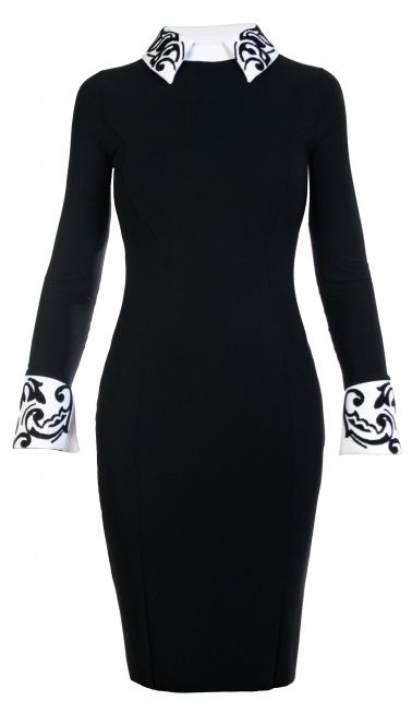 Sleeve, Shoulder, Dress, Standing, Joint, Formal wear, Style, Black-and-white, Fashion, Pattern,