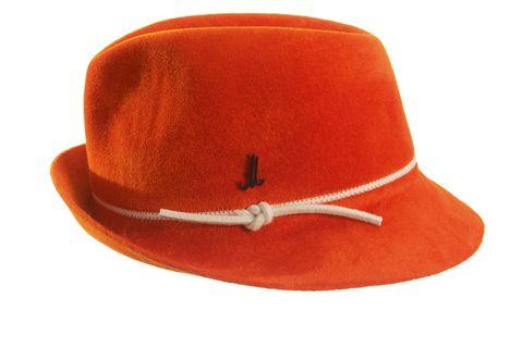 Orange, Red, Headgear, Costume accessory, Carmine, Maroon, Costume hat, Tan, Costume, Coquelicot,