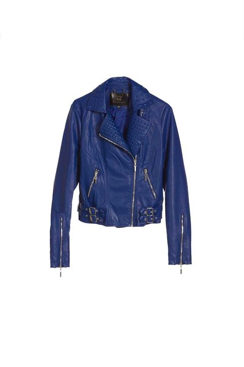 Clothing, Blue, Jacket, Collar, Sleeve, Textile, Outerwear, White, Coat, Electric blue,