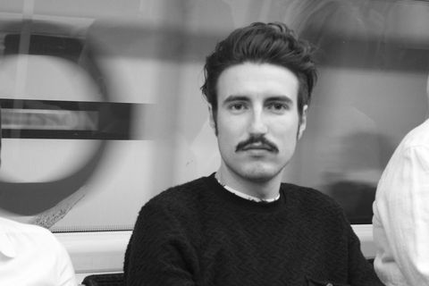 Sweater, White, Style, Jaw, Monochrome, Facial hair, Eyelash, Monochrome photography, Black-and-white, Moustache,