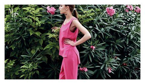 Dress, Petal, Shrub, Pink, Flower, Magenta, One-piece garment, Day dress, Waist, Gown,