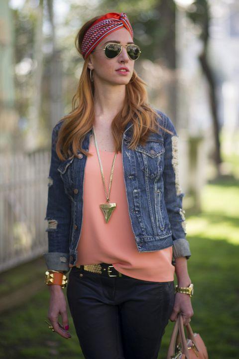 Clothing, Textile, Outerwear, Fashion accessory, Denim, Style, Sunglasses, Street fashion, Bag, Cap,