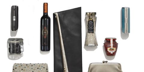 Product, Brown, Liquid, Bottle, Glass bottle, Fashion, Bag, Beige, Rectangle, Design,