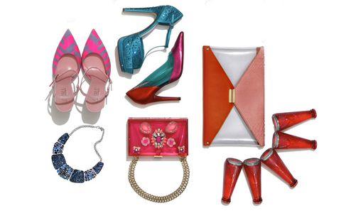 Red, Purple, Magenta, Boot, Natural material, Body jewelry, Scissors,