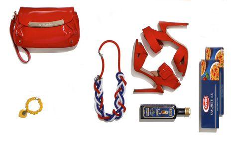 Red, Font, Bag, Carmine, Symbol, Leather, Coquelicot, Shoulder bag, Number, Baggage,