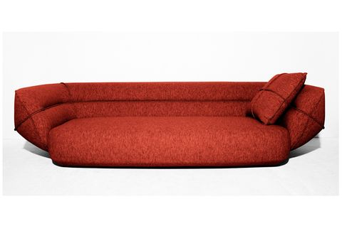 Brown, Red, Couch, Furniture, Rectangle, Maroon, studio couch, Cushion, Futon pad, Outdoor furniture,