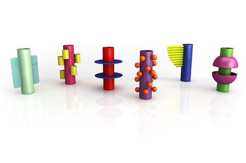 Colorfulness, Magenta, Plastic, Symbol, Cylinder, Building sets,