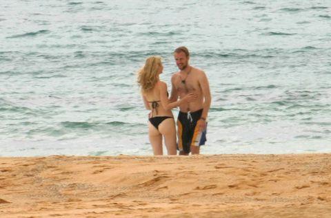 Body of water, Fun, Brassiere, Swimwear, Sand, People on beach, Summer, Leisure, Undergarment, Beach,