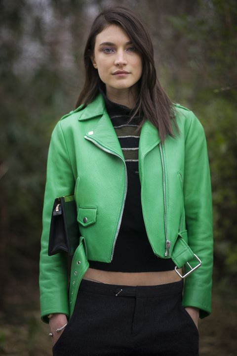 Clothing, Green, Collar, Sleeve, Textile, Coat, Joint, Jacket, Outerwear, Standing,
