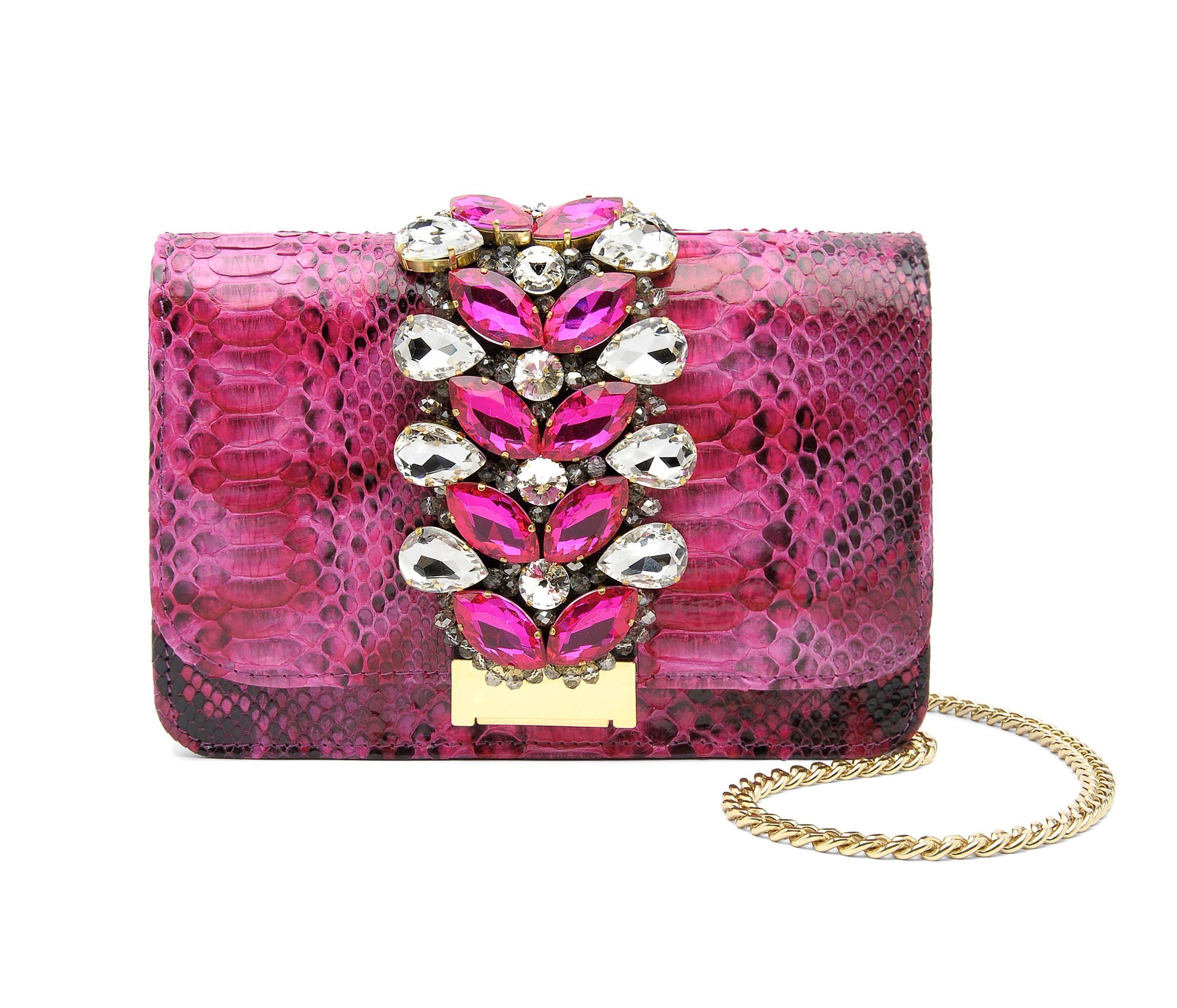 Accessori primavera estate 2014: Le borse in pitone multicolor
