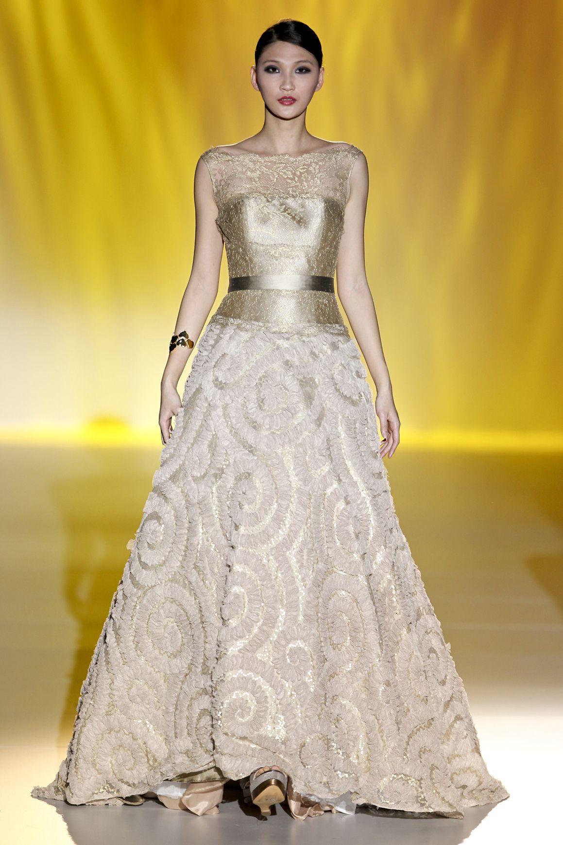 abbastanza 5 abiti da sposa dorati per la primavera estate 2014 MS34