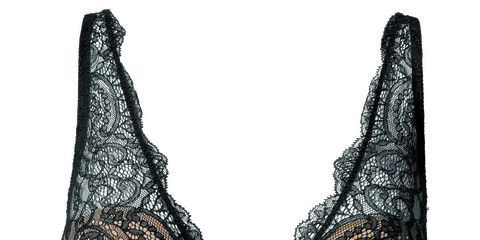 Undergarment, Brassiere, Lingerie, Costume accessory, Black, Lingerie top, Lace, Bat, Undergarment, Briefs,