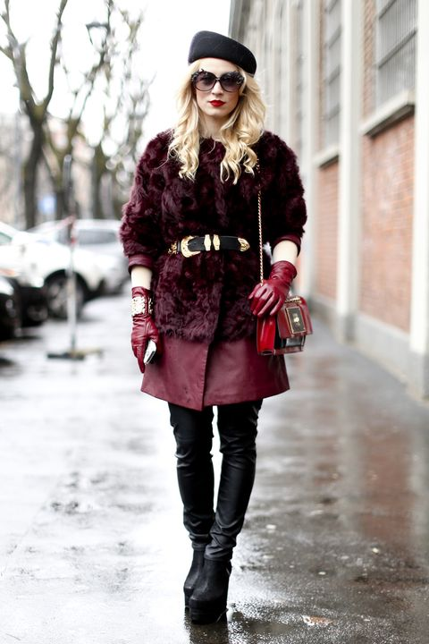 Clothing, Winter, Textile, Outerwear, Hat, Boot, Fashion accessory, Style, Street fashion, Sunglasses,