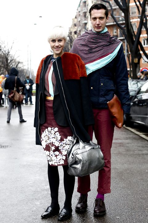 Clothing, Footwear, Leg, Trousers, Textile, Bag, Outerwear, Winter, Style, Street fashion,