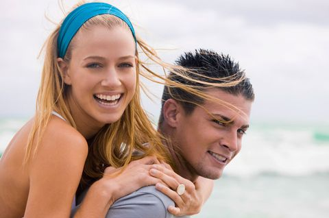 Smile, Mouth, Fun, Hairstyle, Happy, People in nature, Summer, Facial expression, Hair accessory, People on beach,