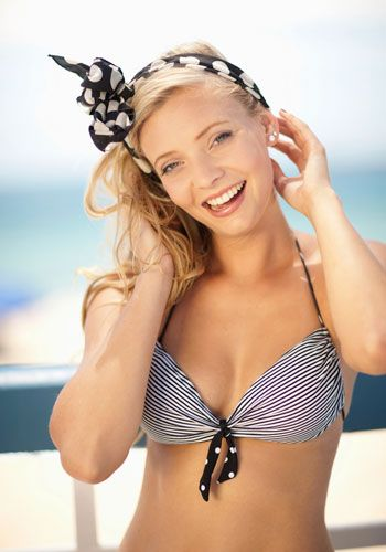 Clothing, Brassiere, Hairstyle, Skin, Swimsuit top, Photograph, Swimwear, Chest, Bikini, Trunk,