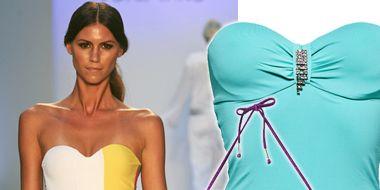 Fashion, Waist, Electric blue, Magenta, Teal, Thigh, Turquoise, Aqua, One-piece swimsuit, Fashion design,