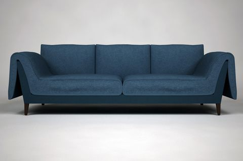 Blue, Furniture, Couch, Room, Living room, Interior design, Rectangle, Electric blue, Black, Grey,