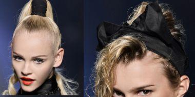 Ear, Lip, Hairstyle, Eyebrow, Eyelash, Style, Beauty, Organ, Hair accessory, Costume accessory,