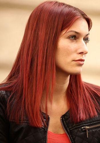 Colore di capelli rosso fuoco