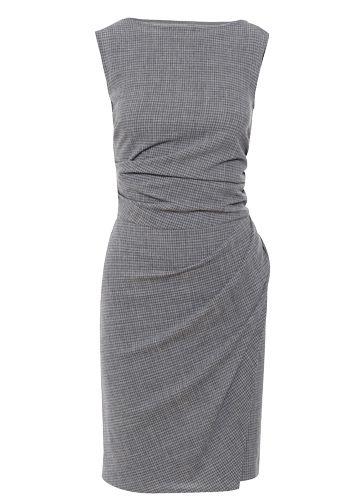 Black, Pattern, One-piece garment, Grey, Day dress, Pattern, Cocktail dress, Woolen,