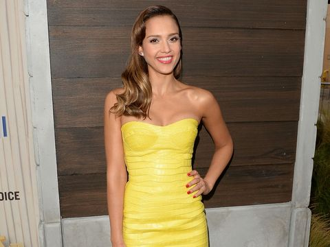 Clothing, Finger, Strapless dress, Yellow, Hairstyle, Dress, Human body, Shoulder, Joint, Waist,