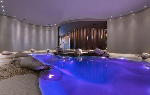 Interior design, Purple, Majorelle blue, Violet, Transparent material, Plastic, Decoration,