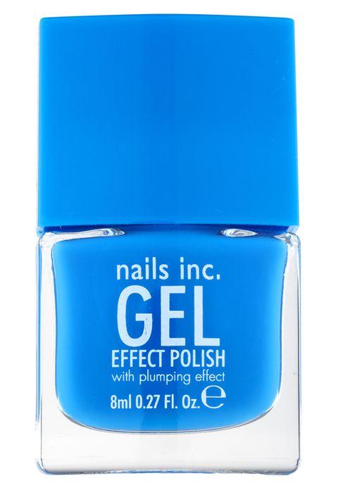 Blue, Electric blue, Aqua, Azure, Majorelle blue, Cobalt blue, Rectangle, Cosmetics, Material property, Label,