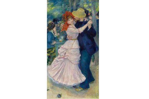 Interaction, Paint, Victorian fashion, Costume design, Art, Dance, Costume, Art paint, Watercolor paint, Painting,