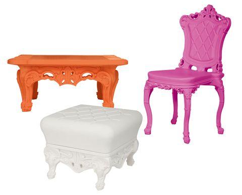 Slide sedia pouf tavolino colorati Design of Love