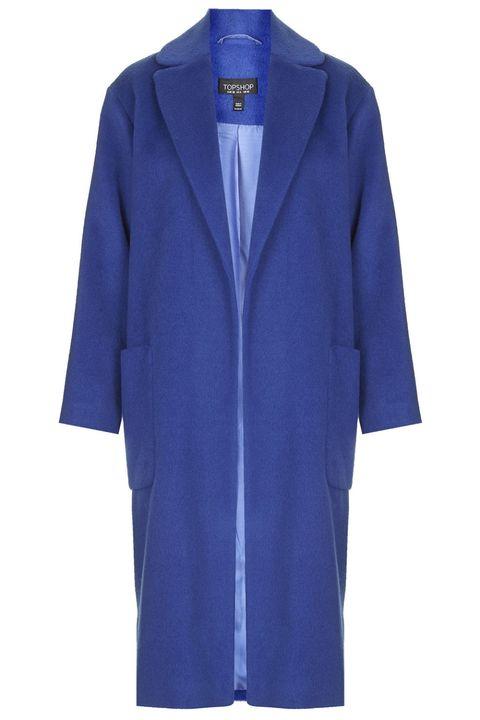 Prova il cappotto blu elettrico