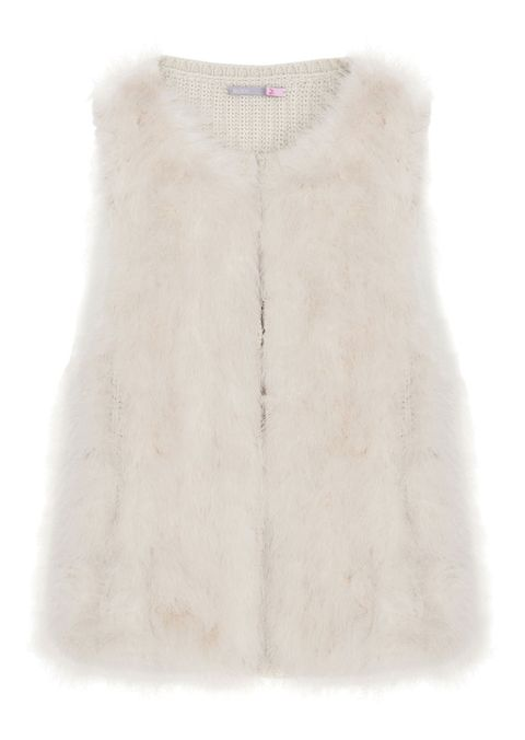Gilet in lana con pelliccia, <b>SCEE by TWIN SET </b>