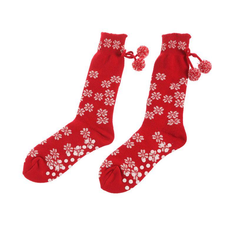 In lana con fiocchi di neve e pallini antiscivolo, <b>Yamamay</b>
