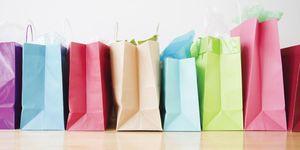 apertura saldi sacchetti shopping